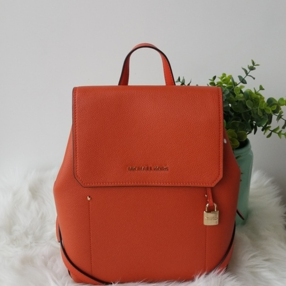 e6cc8c7afa89 Michael Kors Bags | Orange Tan Large Hayes Backpack 348 | Poshmark